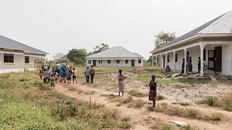Three semidetached houses belonging to the Sonrise Children's Home