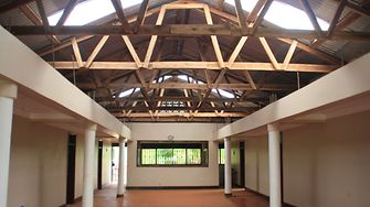 The interior of the girl's new residential building