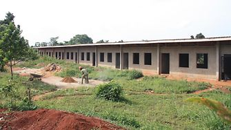 The recently completed school building of the Mirembe Cottage of Streets Girls
