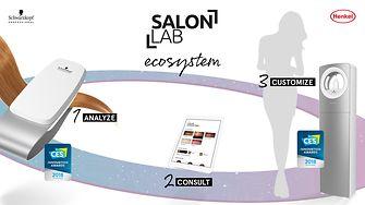 In drei Schritten werden die Haare analysiert