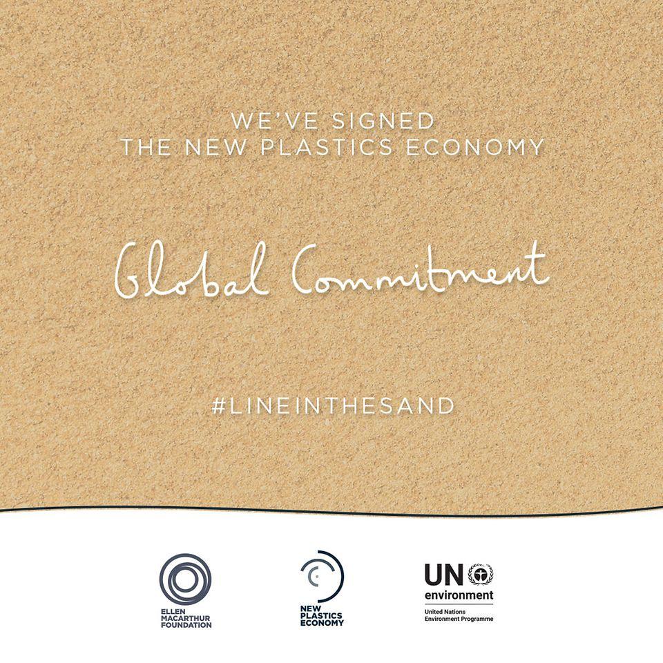 เฮงเค็ลเป็นหนึ่งในองค์กร 250 แห่งที่ร่วมลงนามใน 'Global Commitment' หรือพันธสัญญาทั่วโลกของ New Plastics Economy