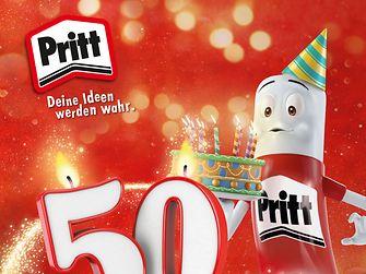Eine Markenikone feiert Geburtstag – der Pritt Stift wird 50.